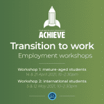 Mature-aged and international student employment workshops