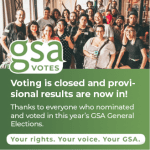 Provisional GSA Election results are in!