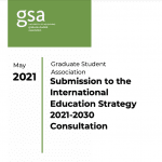 Submission to the International Education Strategy