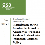 Academic Progress Review in Graduate Research Courses Policy