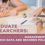 Feedback wanted – Management of Research Data and Records Policy