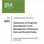 Submission on Proposed Amendments to the Management of Research Data and Records Policy
